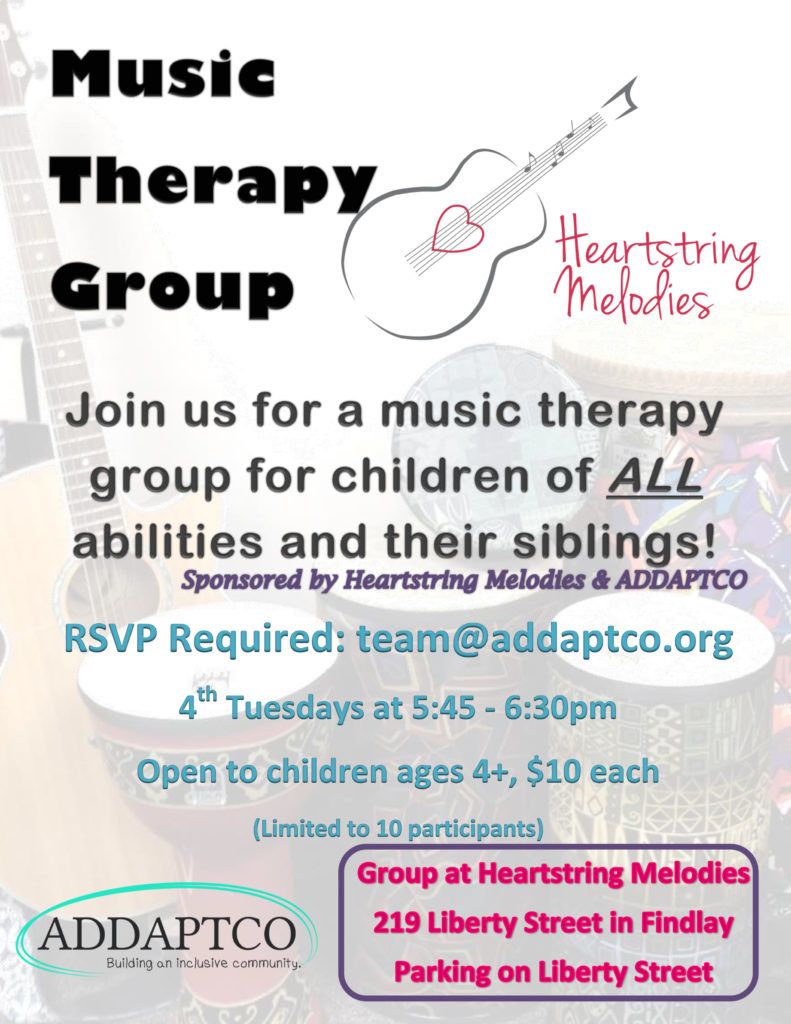 ADDAPTCO Flyer Music Therapy Group